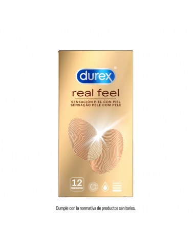 DUREX REAL FEEL CONDOMS 12 U